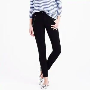J.Crew Pixie Snap Front Pant Black Stretch Cropped